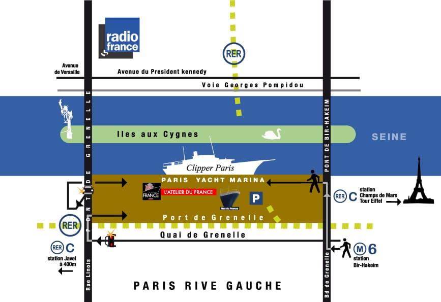 plan d'accès Paris Yacht Marina
